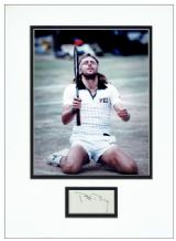 Bjorn Borg Autograph Signed Display - Wimbledon
